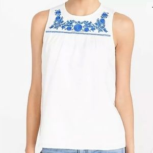 J.Crew Embroidered Cotton Linen Shell Top-00-NWT